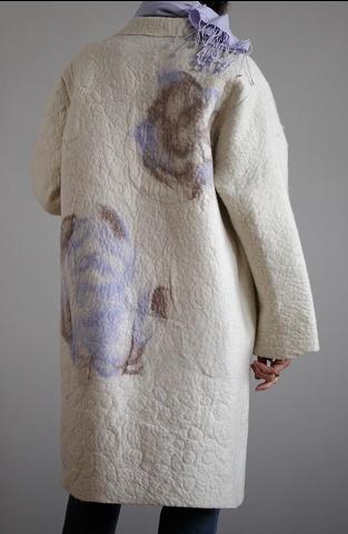 Nina Compagnon wearable felted fiber art