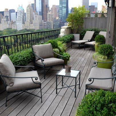 Create seating groups in long, narrow spaces. Image: Houzz                                                                                                                                                      More