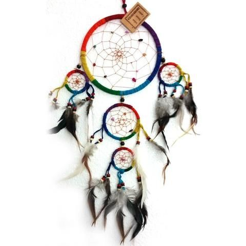 Rainbow Dream Catcher - Traditional Style - The Hippie House