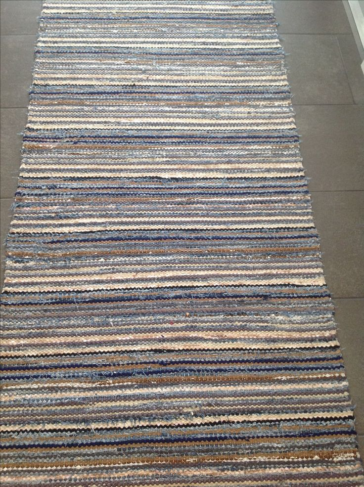 rag rug,  jeans and other cotton materials