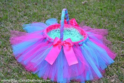 Easter Tutu basket. Have to make one for Morgan this year.