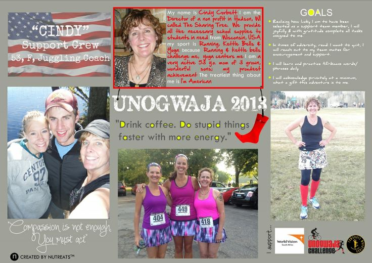 Serendipity: How a chance encounter with John McInroy had Cindy Corbett returning to SA as part of our 2013 challenge
