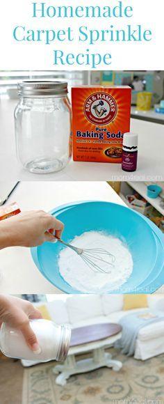 Carpet Odor Eliminator- 2 Ingredients: Baking Soda & oil essence