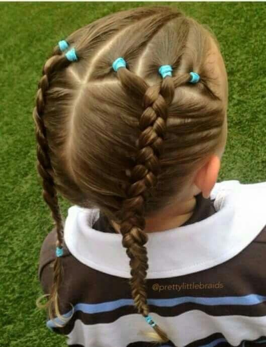 Cute braided pigtails