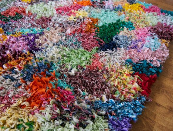 Proddy Rag Rug Rainbow Multi Color Shaggy By Krasneytherugmaker
