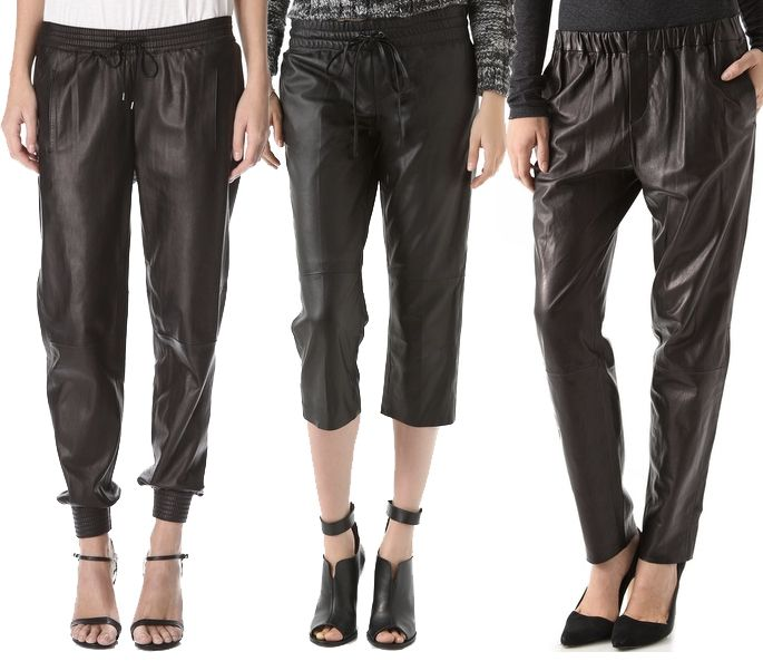 Trend watch leather jogging pants - FASHION SIZZLE