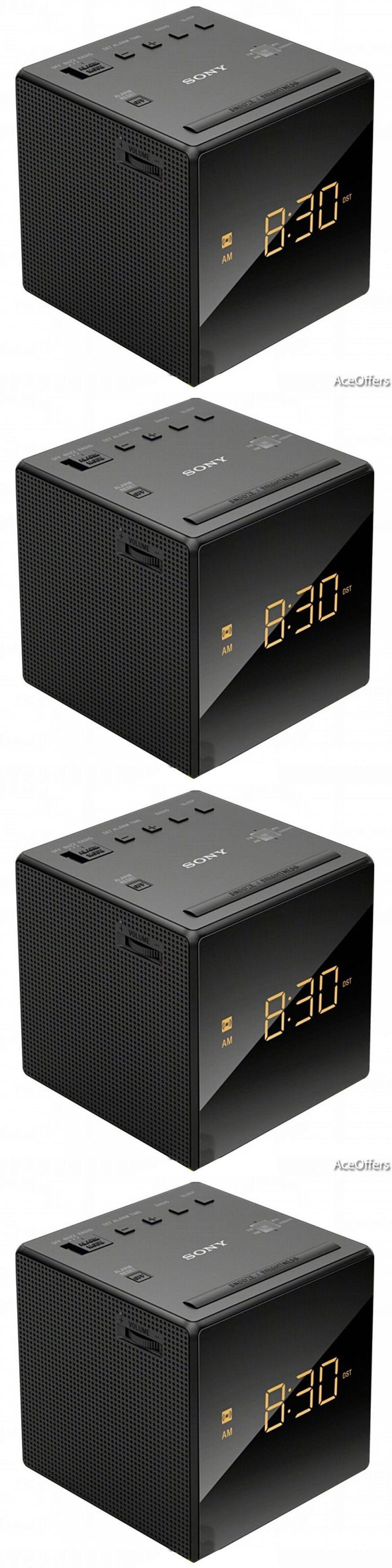 Digital Clocks and Clock Radios: Alarm Clock With Radio Sony Led Black Buzzer Corded Electric Battery Backup New BUY IT NOW ONLY: $31.99