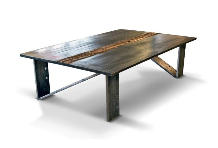 Steel & reclaimed wood. By olga guanabara Made in brooklyn