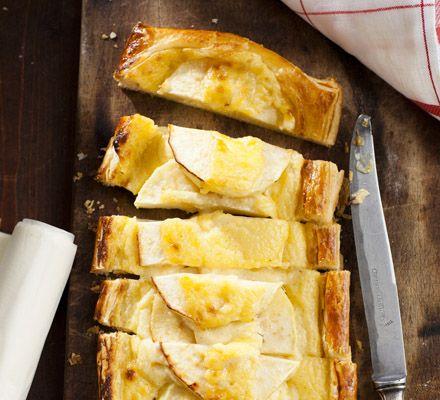 Tartelette met appel en banketbakkersroom
