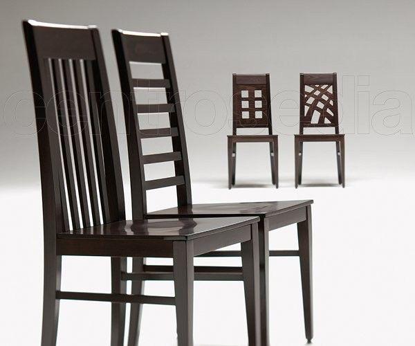 Inda sedia legno imbottito modern