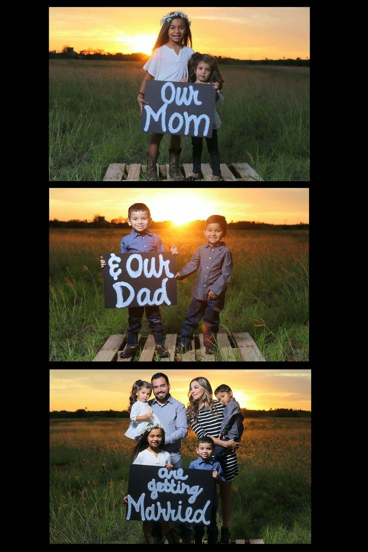 Engagement Announcement, Blended Family, Photography