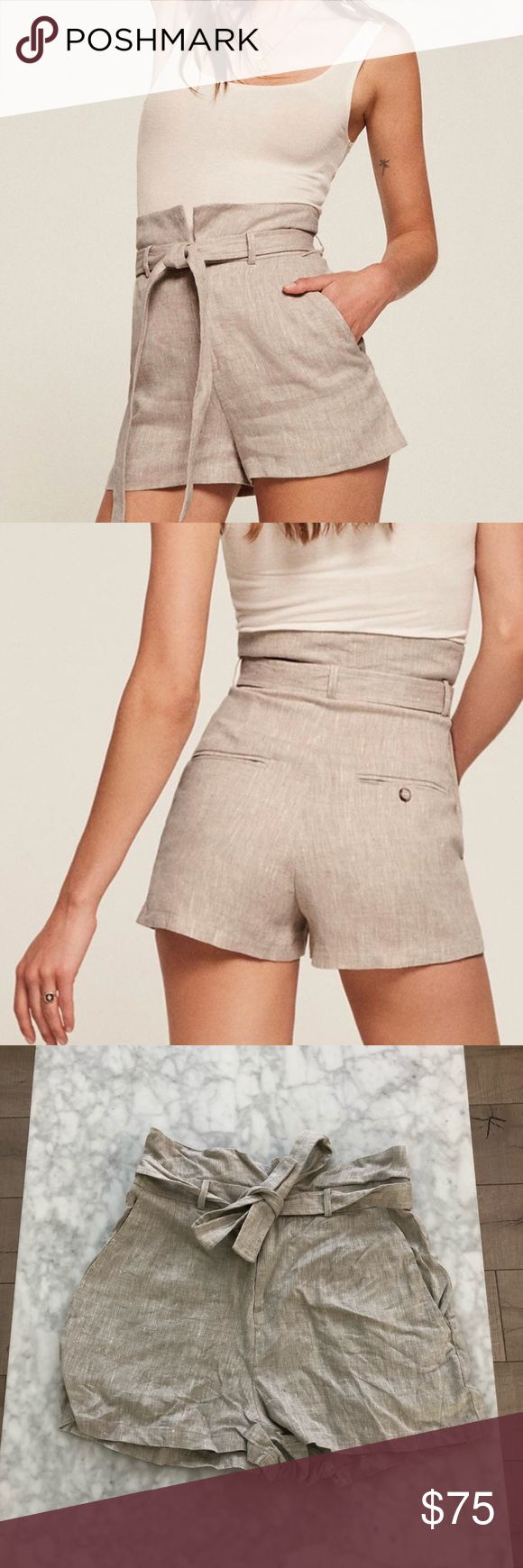 Reformation Khala Linen Shorts Reformation khala Linen Shorts! Only worn once and stored ever since! Size 8! NO TRADES Reformation Shorts