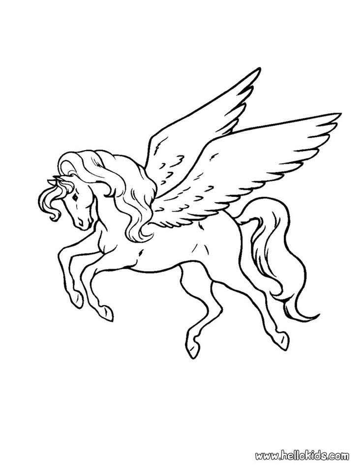 97 best Pegasus to Color images on Pinterest  Coloring books