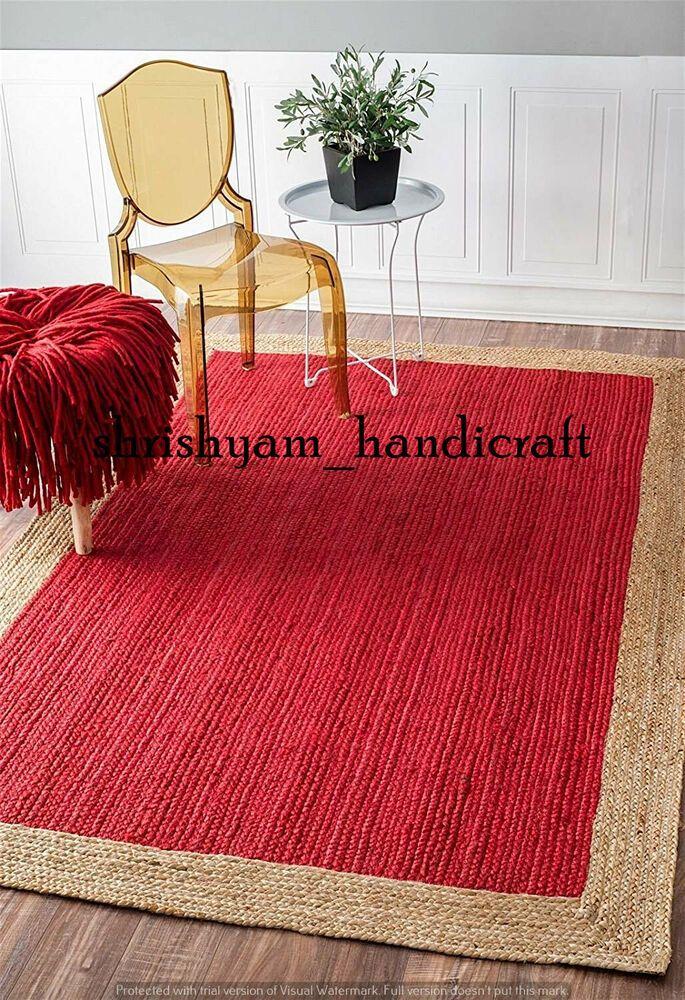 Natural Cotton Rug Floor Mat Home Living Carpet Handmade 3x4 Feet reversible Rug