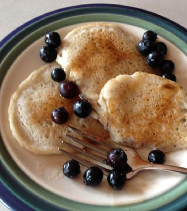 TRY A DIFFERENT SWEETENER - Rice Flour Pancakes1 cup rice flour 2 tbsps sugar (maybe honey) 2 tsps baking powder (baking soda 1tsp or 1/2tsp) 1tsp of vanilla extract 1/2 tsp salt 1 egg (lightly beaten) 1 cup rice milk (or 1 cup soymilk) 2 tsps oil, (Add strawberries or fruit or cinnamon apples)