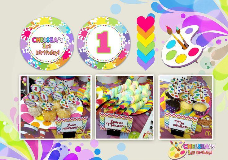 1st Birthday Party (Art Rainbow Party Theme)