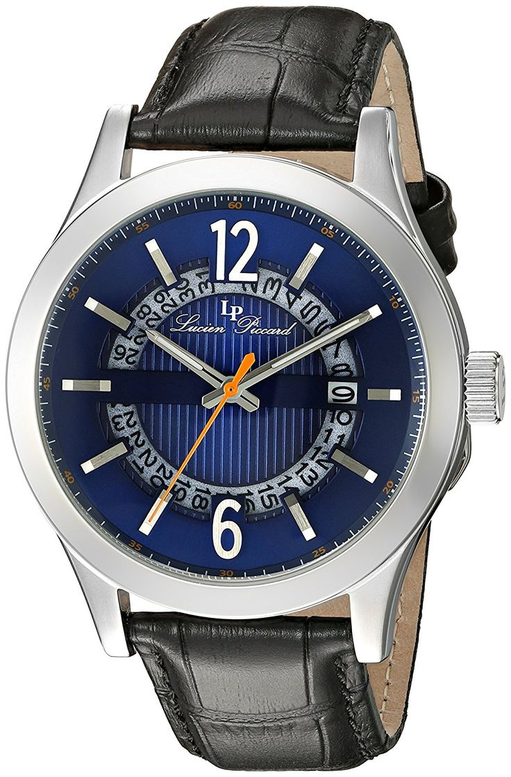 Lucien Piccard Men's LP-40020-03 Oxford Analog Display Quartz Black Watch ** Learn more by visiting the image link.