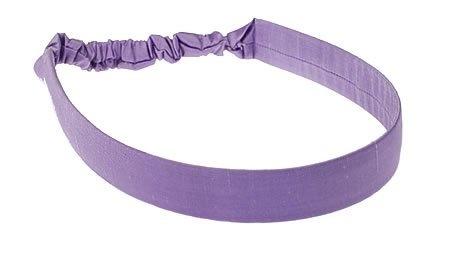 L. Erickson USA Narrow Derby Headwrap - 100% Silk Shantung Tanzanite $52.00