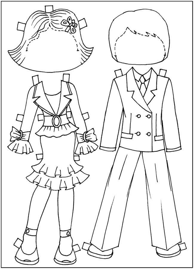 Куклы-вырезалки, раскраски для девочек, бесплатно скачать ...