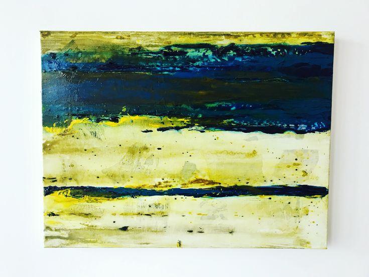 C O M P A S S Blue/ Green/ Yellow #art #gloss