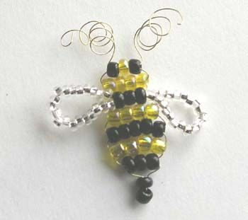 beaded beeWire Bees, Bees Happy, Adorable Bees, Bees For Flower, Bees Bzzzzz, Bees Tutorials, Beads Bees For, Bee Buttons
