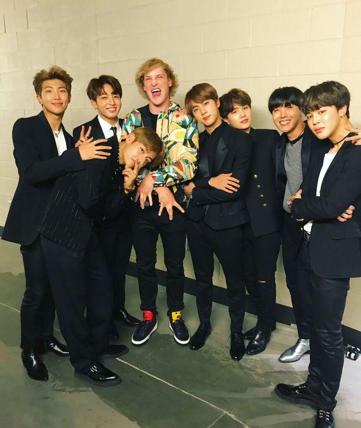 BTS with Logan Paul! ❤ BTS At The BBMAs~ (170521) #BTS #방탄소년단