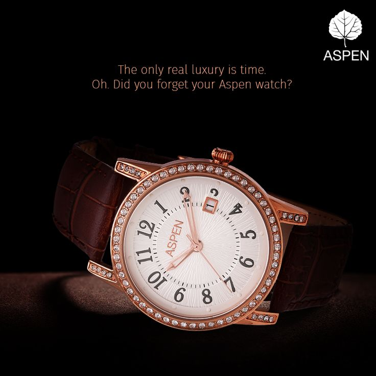 When luxury meets time. Buy an Aspen today!  http://amzn.to/1SCrV1h  #luxury #watch #aspenwatch #style #fashion