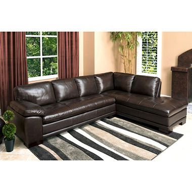 Westbury Top Grain Leather Sectional Leather Sectional
