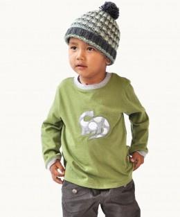 Green Dinosaur Long Sleeve Shirt