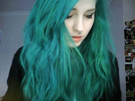 Tumblr Girls With Green Hair