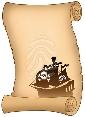703 best images about pirate party fiesta pirata on for Pirate scroll template