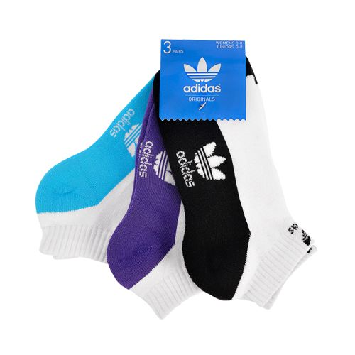 ADIDAS 3PK TREFOIL ANKLE SOCKS WOMENS 3-8 now available at Foot Locker