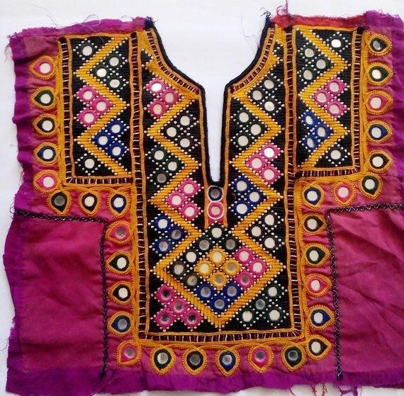 Indian vintage banjara neck yoke with by coloursofspirit on Etsy