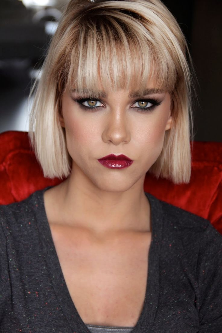 Hairstyles With Blunt Fringe Best 254 Box Bob Images On Pinterest Hair And Beauty Bobs