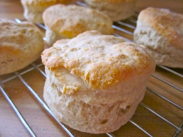 Biscuits ~ perfect recipe for a batch of 12, with a little more baking powder than some call for.... extra fluffy :)