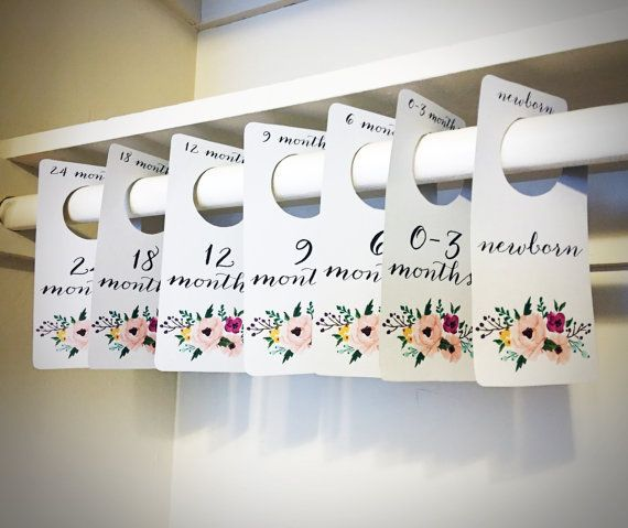 Floral Printable Baby Nursery Closet by ArthurCustomGraphics