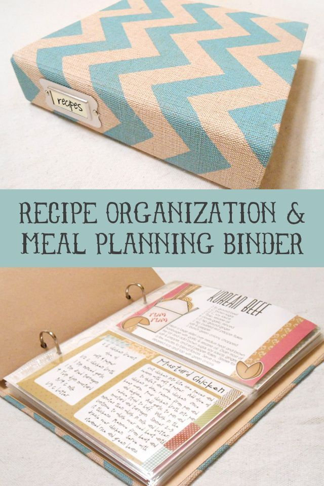 Recipe Organization and Meal Planning Binder at http://my3monsters.com