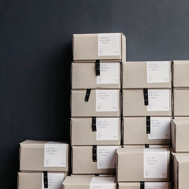 Supply Paper Co. x Local Gatherings standard shipping box with package label for WINTER. #supplypaperco #localgatherings @localgatherings