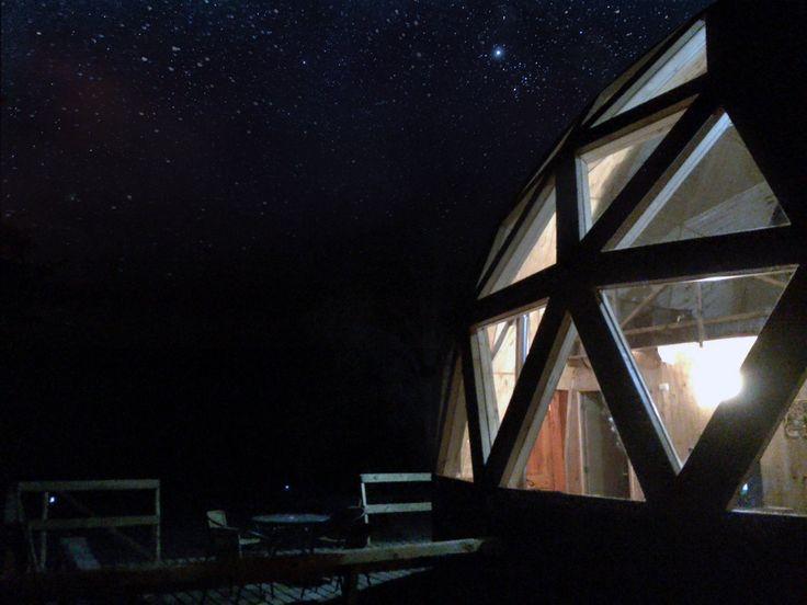 Refugio Domo Geodésico noche lodge Valle las Trancas