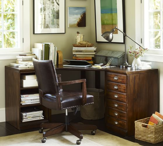 Idea For Home Office Printer 39 S Corner Desk Set Pottery Barn Home Ideas Pinterest Best