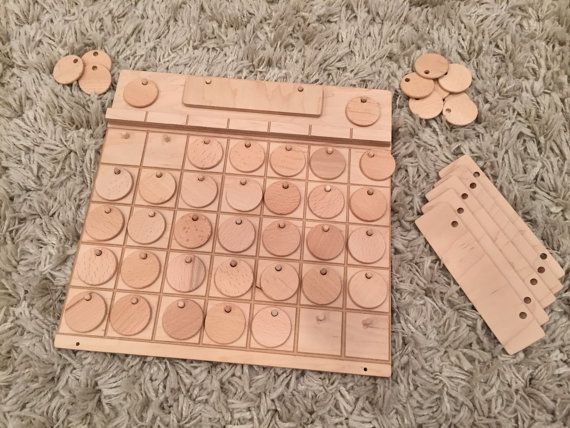 DIY Blank Wooden Perpetual Calendar by FromJennifer on Etsy