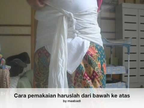 video:how to tie a postpardum malaysian belly binding