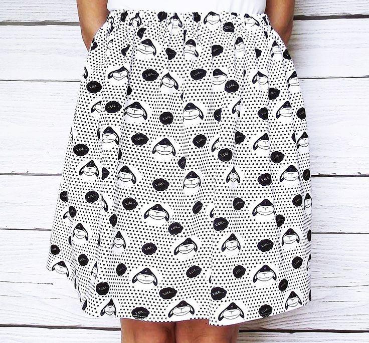 Jupe brebis, mouton, bee, imprimee, BD, amusante jupe en coton, dessin, Bandes dessinees jupe femme ado : Jupe par atelier-mademoiselle-k