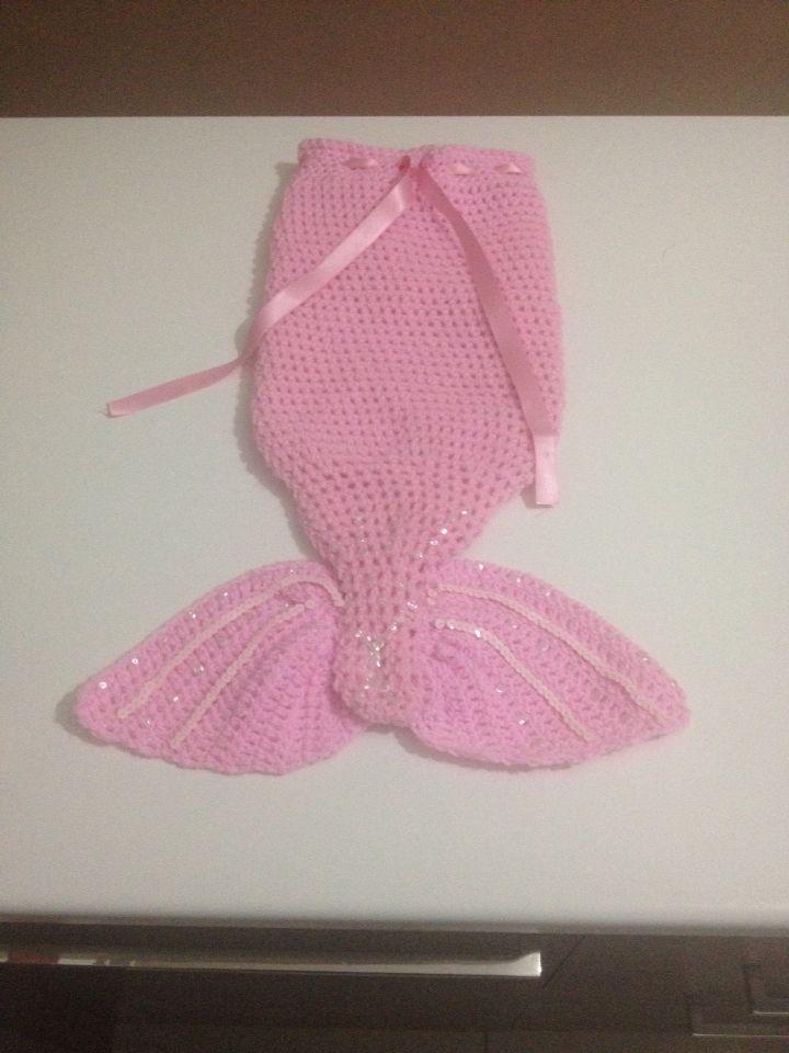 Crochet Mermaid tail 12 months
