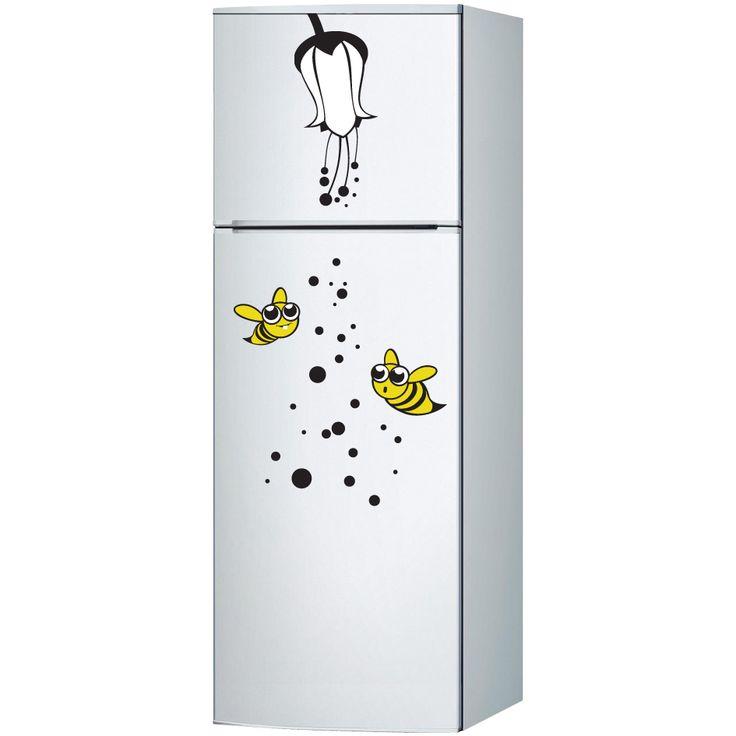Arı Floral Buzdolabı Sticker :: DEVesnaf
