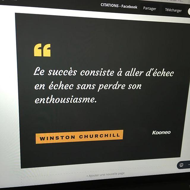 """""""Le succès consiste à aller d'échec en échec sans perdre son enthousiasme."""" WINSTON CHURCHILL https://www.instagram.com/p/BHR7qqohF-OEYamknKbO3E6jxpuHeN-U5f_UAA0/"""