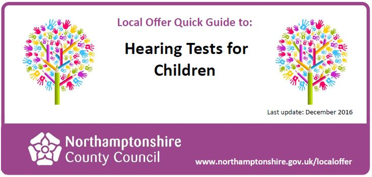 This document contains information about how to obtain a hearing test for your child.