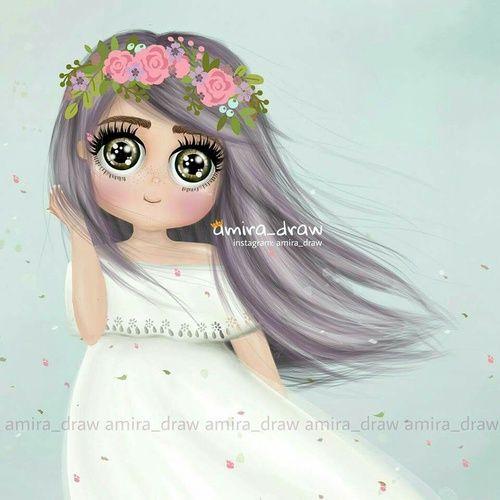 ร ปภาพ Bride Hair And Pink Girly Art Illustrations Girly Art Digital Graphics Art