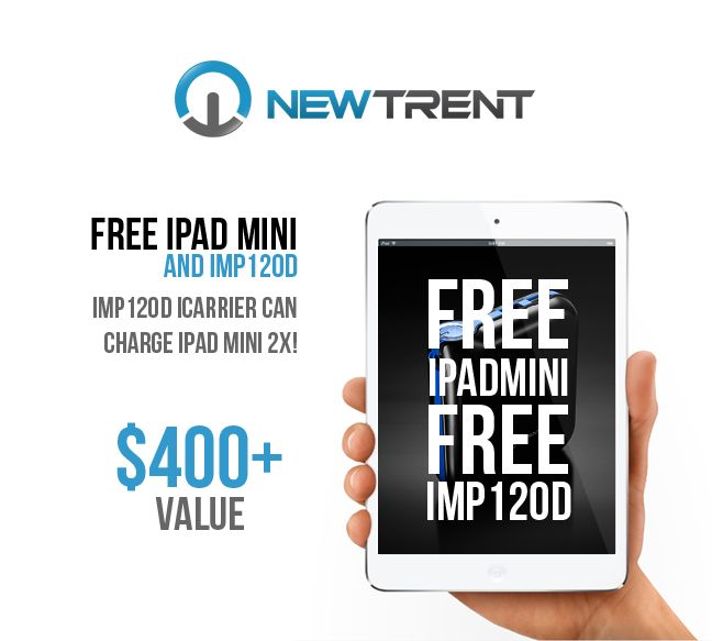 Free ipad Mini Giveaway from New Trent! Get your chance today!
