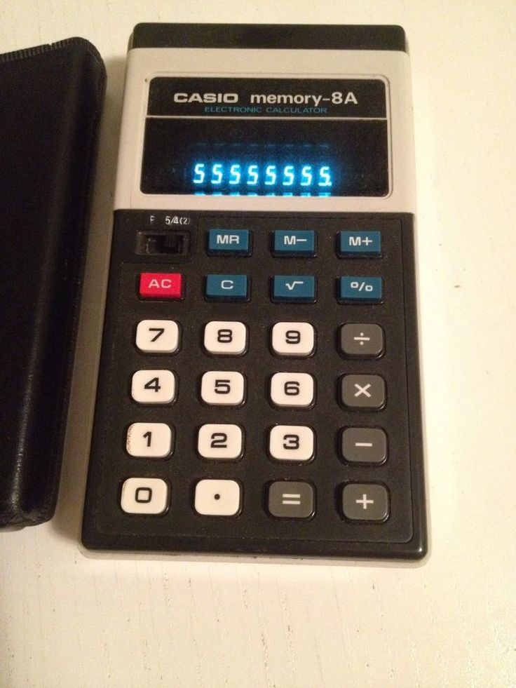 Casio Memory 8a Vintage Japan 1970x Calculator #Casio